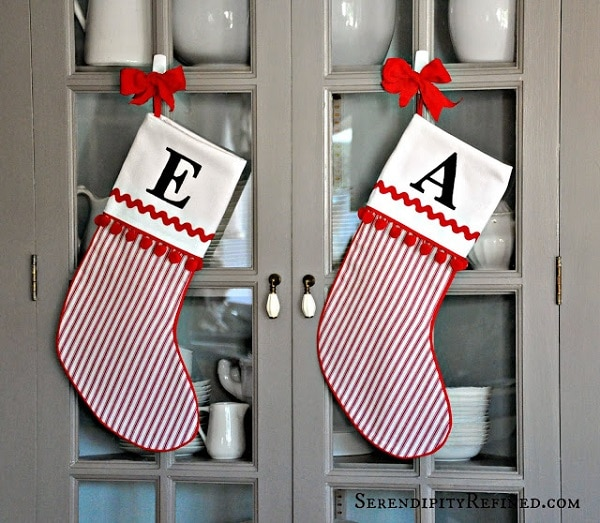19 Monogram Stockings