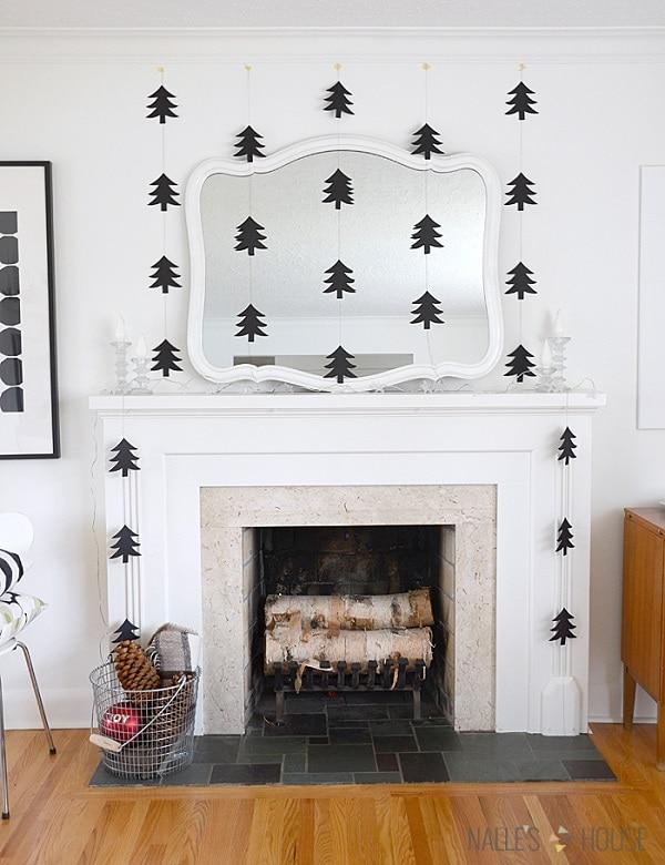 3 Paper Tree Garland