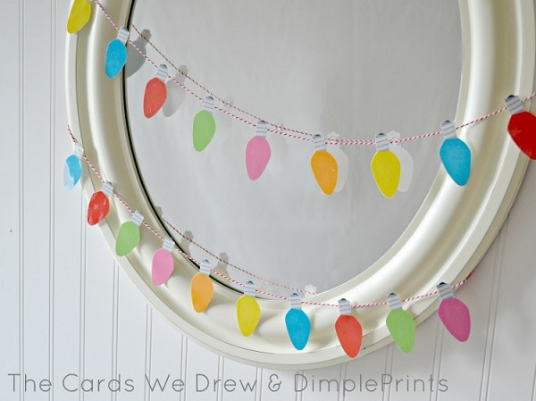 5 Christmas Light Garland