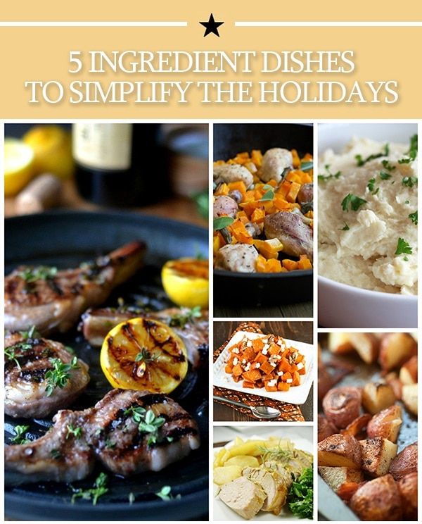 5 ingredient recipes for the holidays