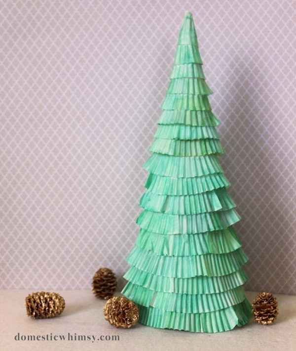 Cupcake Wrapper Tree