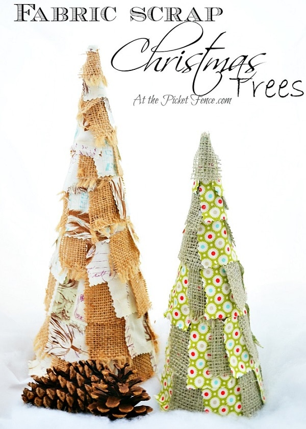 Fabric Scrap Trees