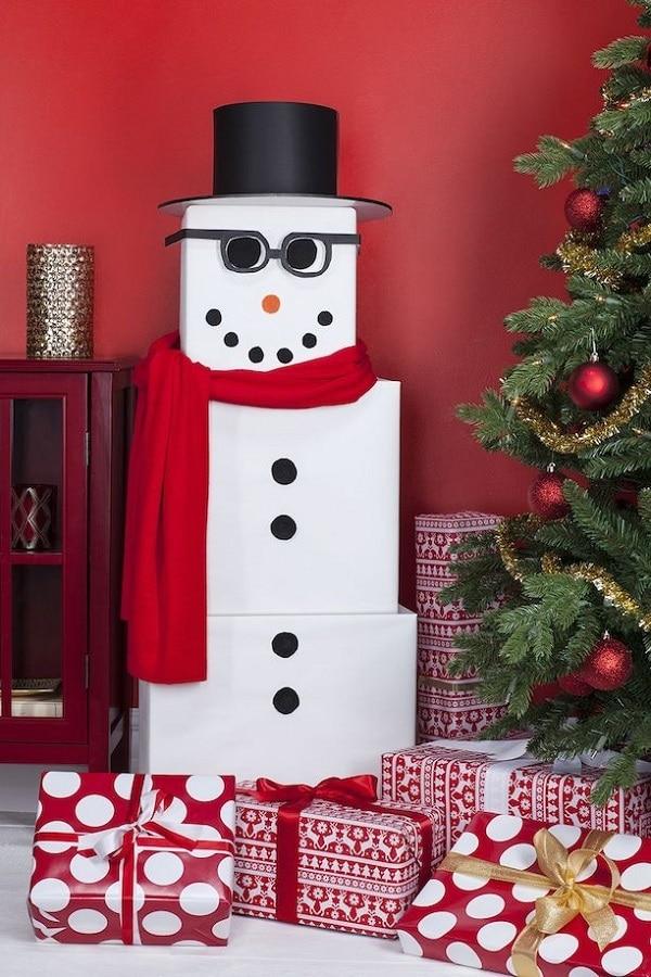 Gift Wrap Snowman