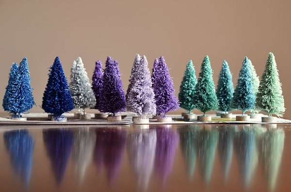 Glitter Bottle Brush Trees