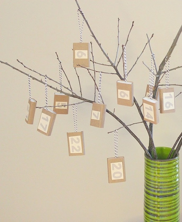 Hanging Matchbox Calendar