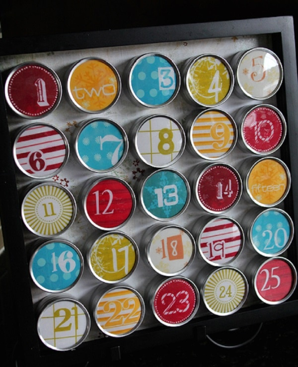 Magnetic Tin Calendar