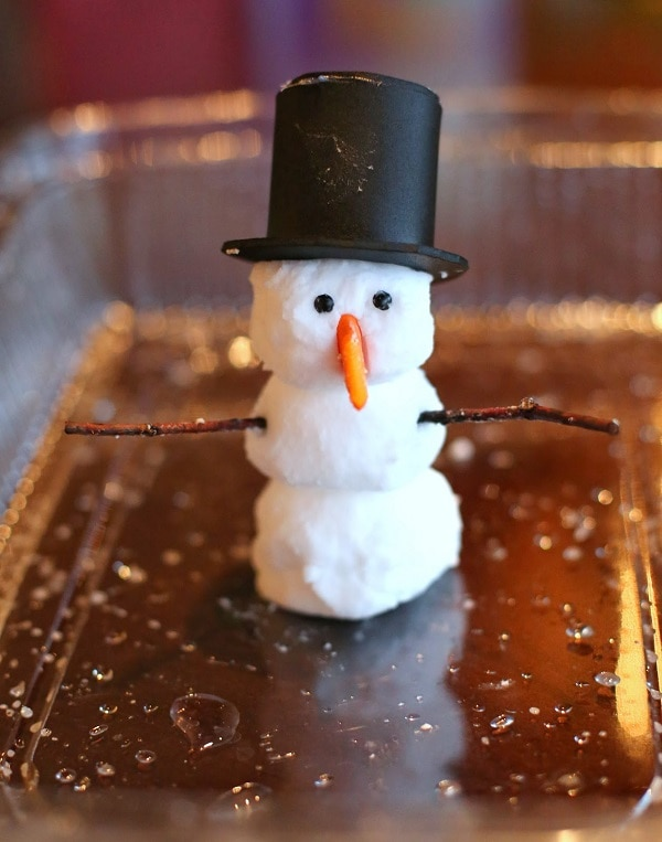 Melting Foam Snowman
