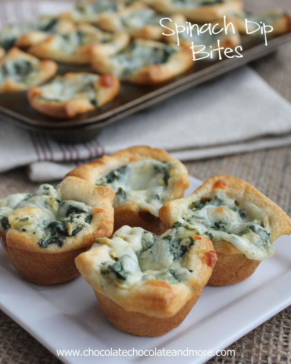 9 Quick & Easy New Year's Eve Finger Foods: Spinach Dip Bites | thegoodstuff