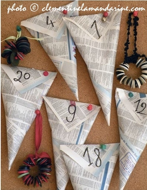 Newspaper Cones Calendar