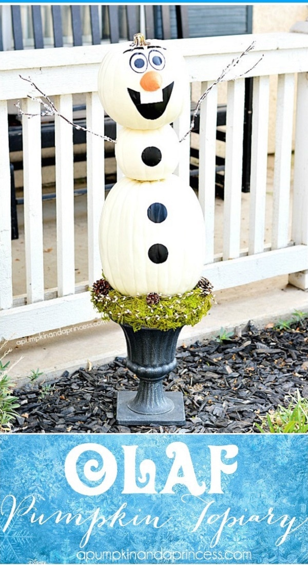 Olaf Pumpkin Topiary
