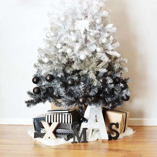 Ombre Faux Tree