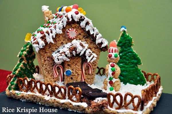 Rice Krispie Gingerbread House