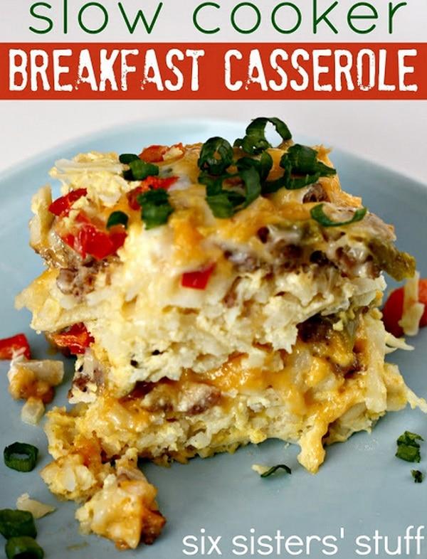 Slow Cooker Sausage Breakfast Casserole
