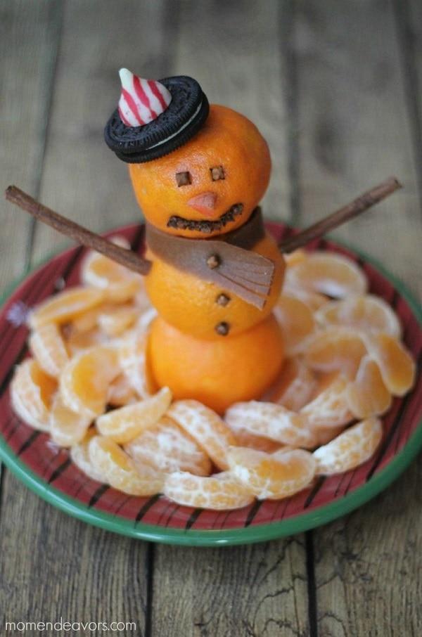 Snowman Fruit Platter
