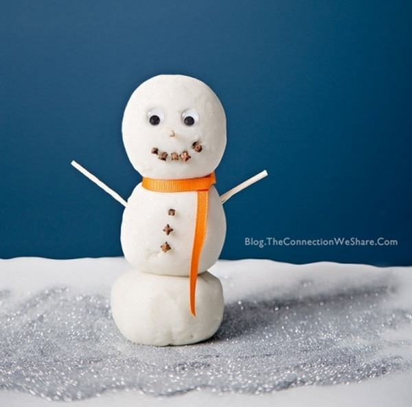 Sparkly Playdough Snowman