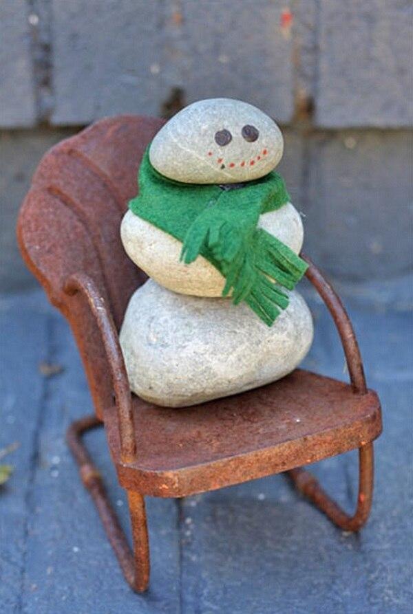 Stone Snowman