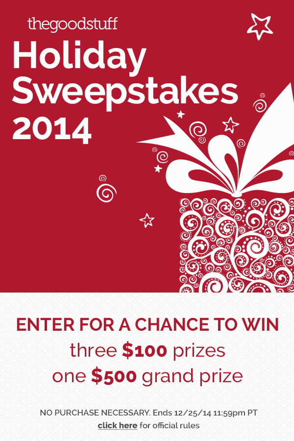 The Good Stuff Holiday 2014 Sweepstakes