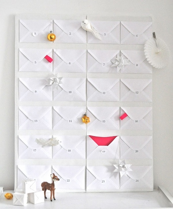 White Paper Envelopes Calendar