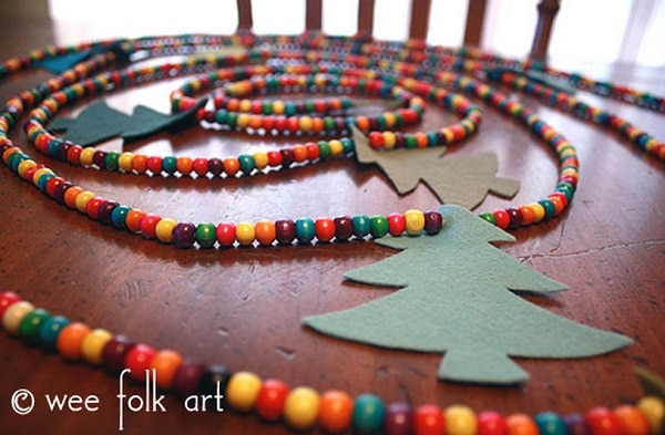 Wooden Bead Garland