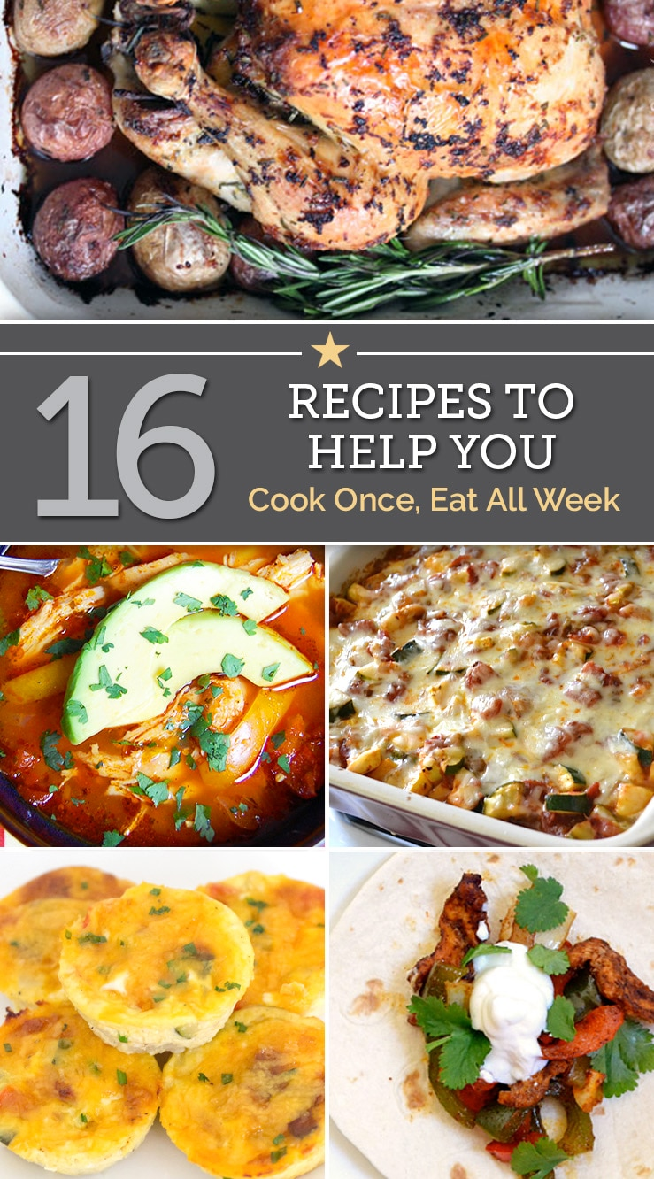 16 recipes to help you cook once eat all week thegoodstuff 16 recipes to help you cook once eat all week forumfinder Image collections