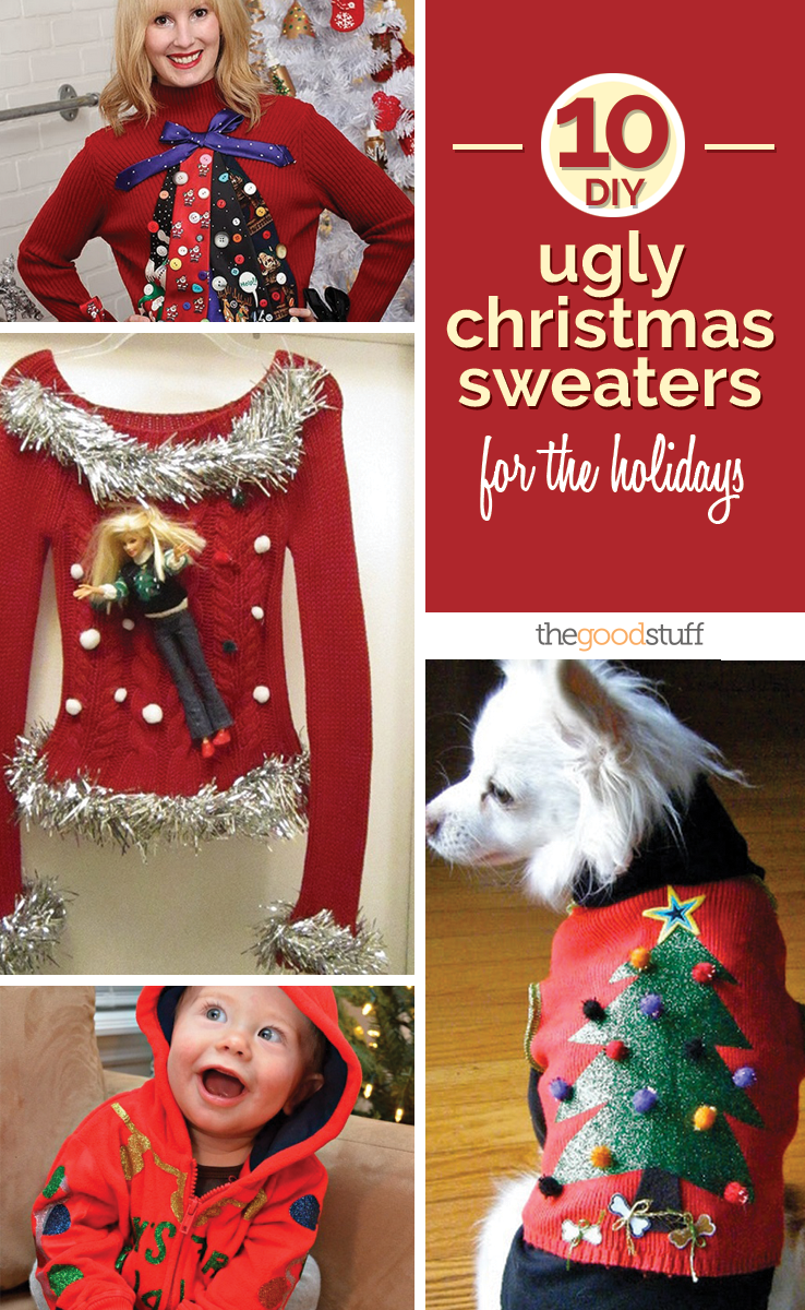 10 diy ugly christmas sweaters for the holidays thegoodstuff diy ugly christmas sweater solutioingenieria