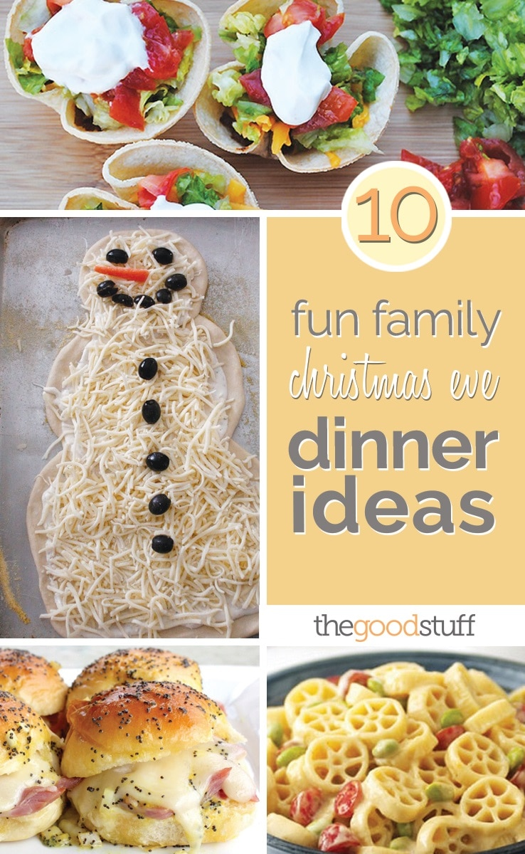 10 fun family christmas eve dinner ideas thegoodstuff for Ideas for christmas dinner