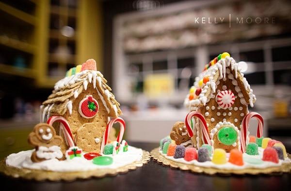 mini Graham Cracker gingerbread house