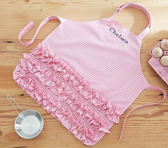 pink-gingham-apron
