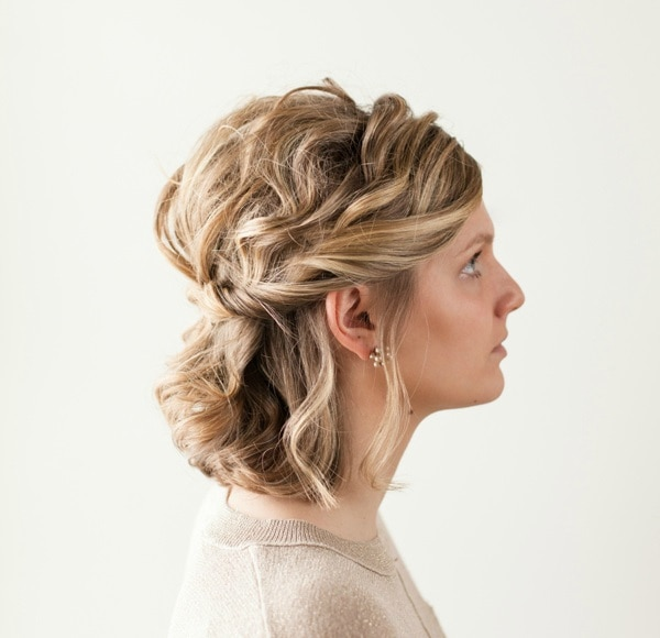 10 Quick Holiday Hairstyles for Short Hair - thegoodstuff