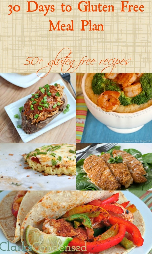 30-Day Gluten Free Meal Plan