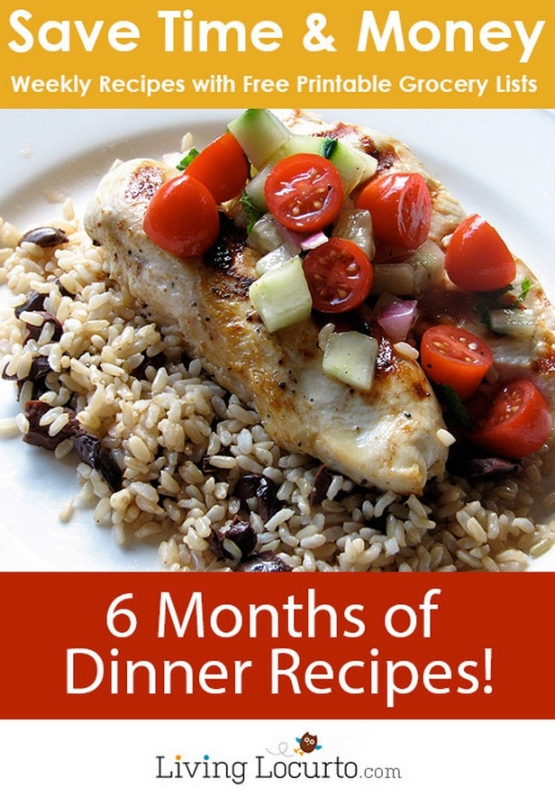 6 Months of Dinner Recipes