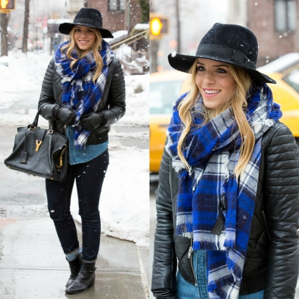 Add a Statement Scarf and Hat