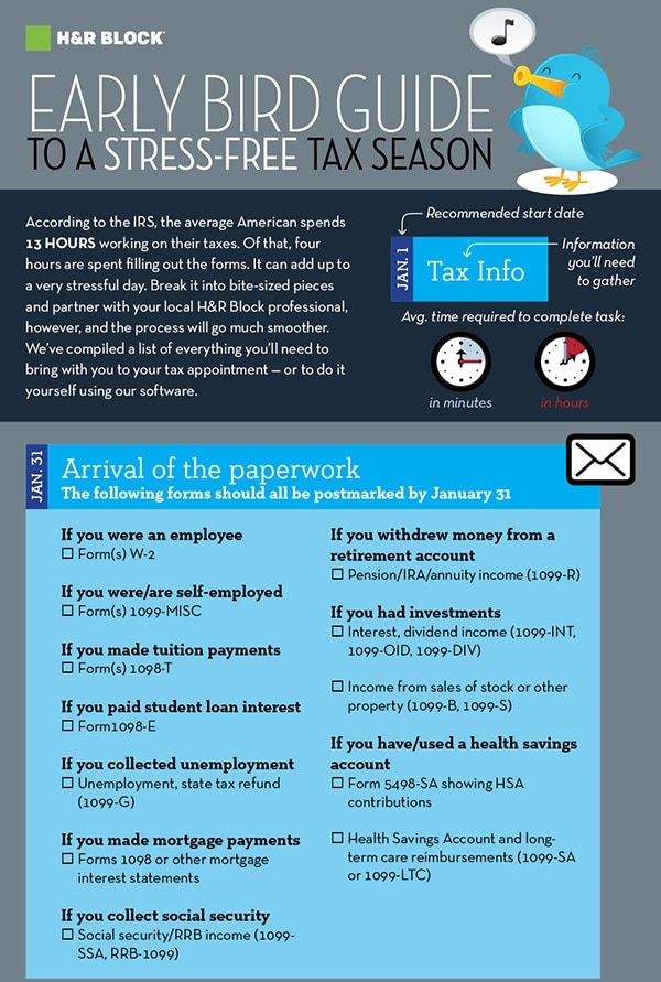 HR Block tax season infographic