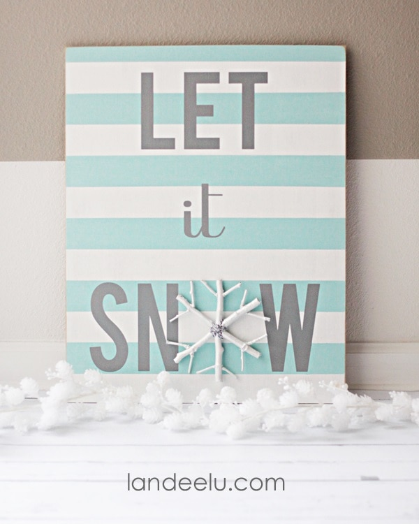 Handpainted Winter Sign