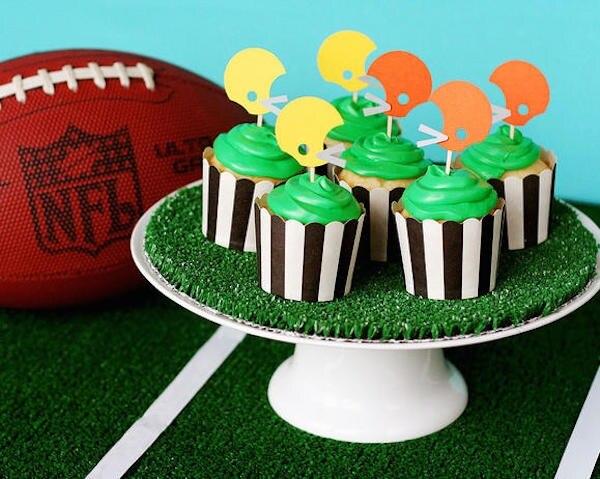 Helmet Cupcake Toppers