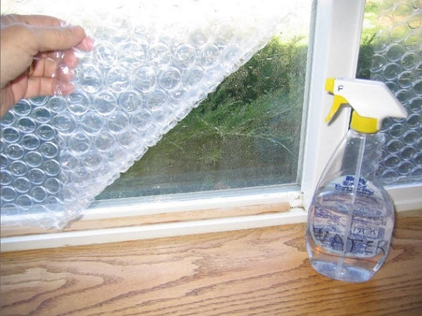 Insulate Windows with Bubble Wrap