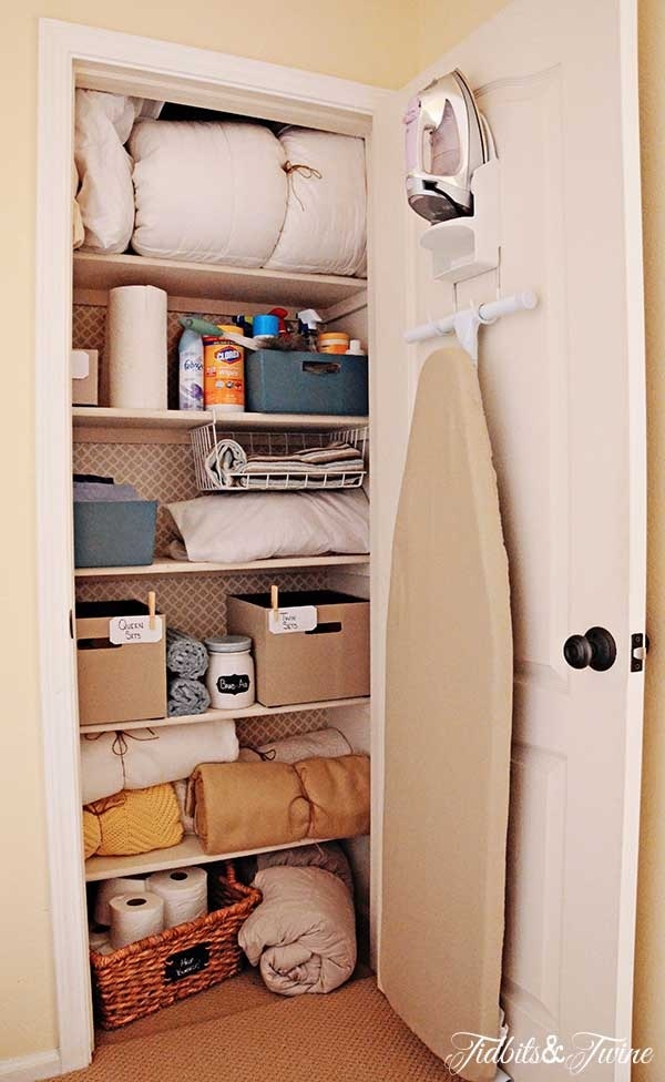 bathroom closet ideas. 15 Tips and Tricks for Organizing Your Linen Closet  thegoodstuff