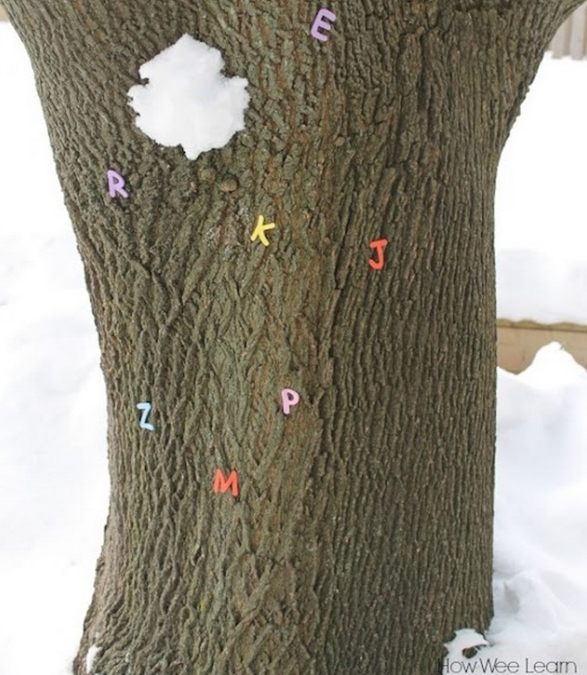 Learn Letters with a Snowball Toss