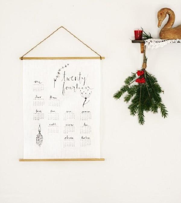 Linen Wall Calendar