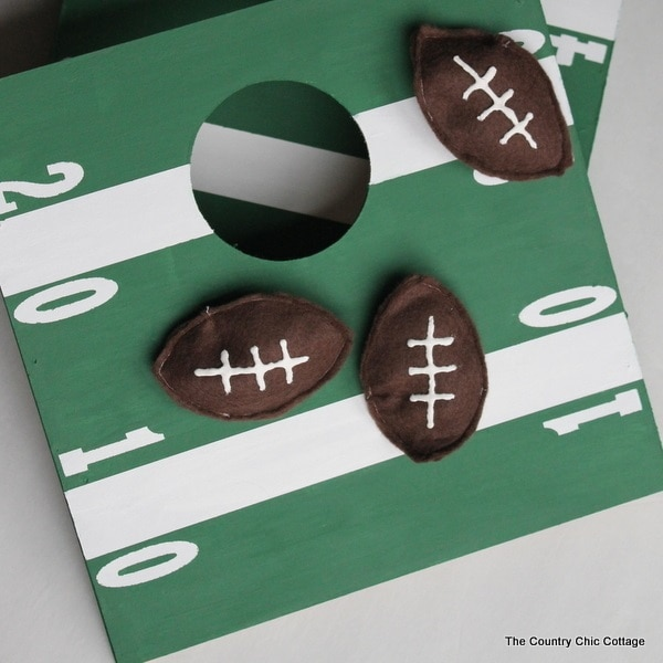 Mini Football Cornhole