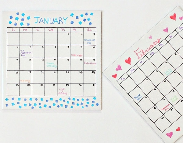 Diy Calendar Diary : Diy planners and calendars for new year s organizing