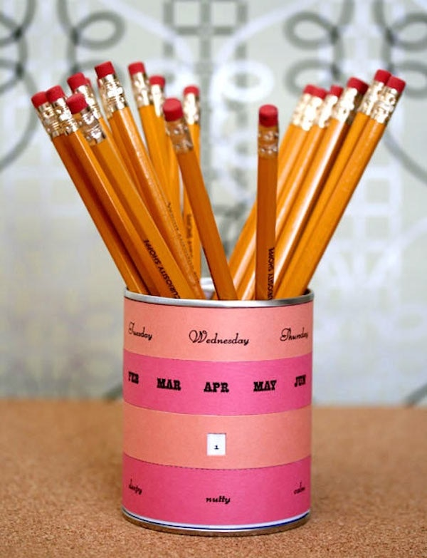 Pencil Cup Perpetual Calendar