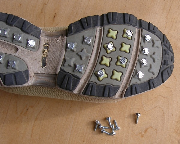 Use Screws to Create Traction in Running Shoes