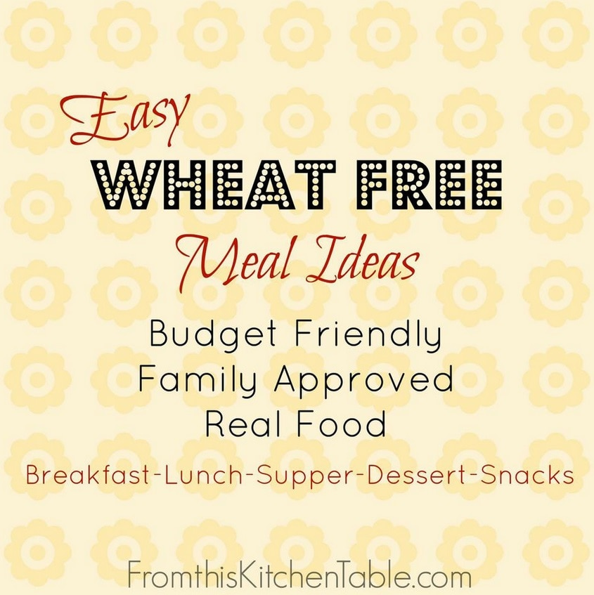 Wheat-Free Meal Plan