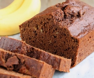 Whole Wheat Reduced Fat Chocolate Banana Bread