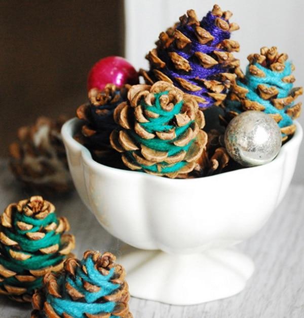 Yarn Pine Cones
