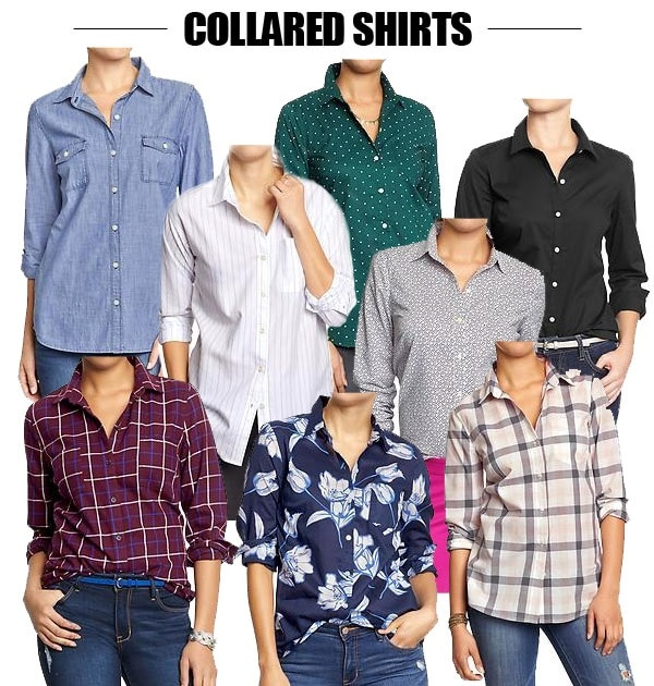 collared shirts