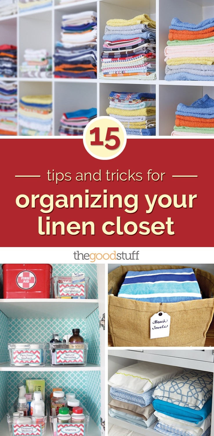 15 Tips And Tricks For Organizing Your Linen Closet | Thegoodstuff