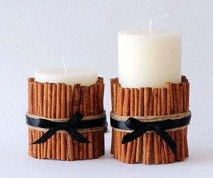 dress up plain candles