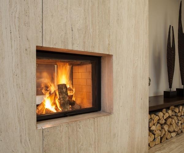 keep fireplace area open